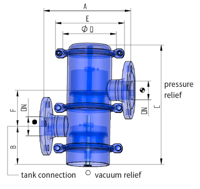 technical drawing breather valve ELEVENT